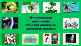 Виртуальная викторина «Чистая экология – здоровая жизнь»