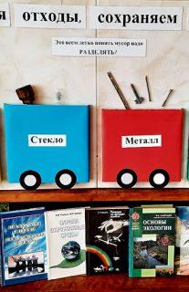 Книжная выставка  «Сортируя отходы, сохраняем природу»